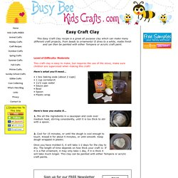 Easy Craft Clay