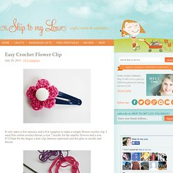 Easy Crochet Flower Clip