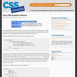 Easy CSS Dropdown Menus