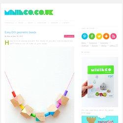 Easy DIY geometric beads