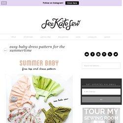 easy baby dress pattern for the summertime