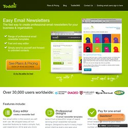 Toddle - simple email newsletters for NON geeks!