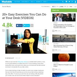 Office Health: 20+ Easy Exercises You Can Do at Your Desk [VIDEOS]