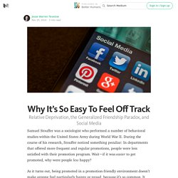 Why It's So Easy To Feel Off Track
