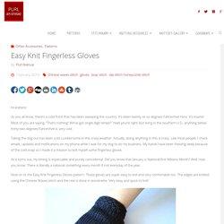 Easy Knit Fingerless Gloves - Purl Avenue
