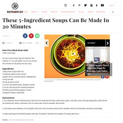 Easy Five Ingredient Soup Recipes