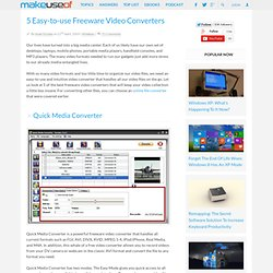 5 Easy-to-use Freeware Video Converters