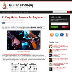 11 Easy Guitar Lessons for Beginners