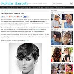 21 Easy Hairdos for Short Hair 2015