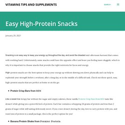 Buy Easy High-Protein Snacks From NineLife