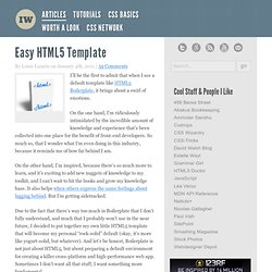Easy HTML5 Template