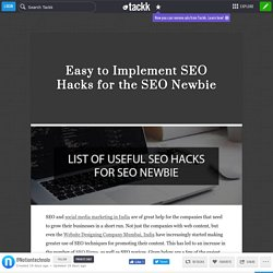 Easy to Implement SEO Hacks for the SEO Newbie