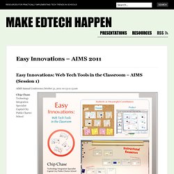 Easy Innovations: Web Tech Tools in the Classroom – AIMS (Session 1) « Make EdTech Happen