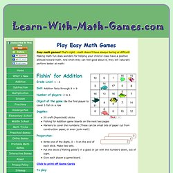 Easy Math Games Make Math Smart Kids. Try some of the best ones here!