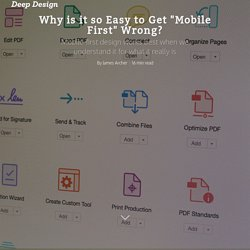 "Why is it so Easy to Get ""Mobile First"" Wrong? - Deep Design"