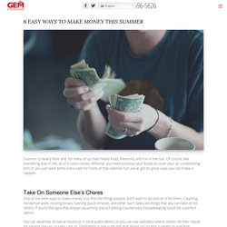 6 Easy Ways to Make Money This Summer