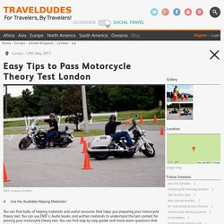 Easy Tips to Pass Motorcycle Theory Test London