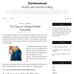 Easy and all natural ways to lose weight