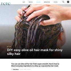 DIY: easy olive oil hair mask for shiny silky hair
