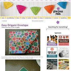 Easy Origami Envelope