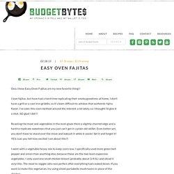 Easy Oven Fajitas