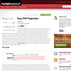 Easy PHP Pagination