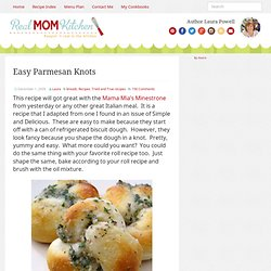 Easy Parmesan Knots