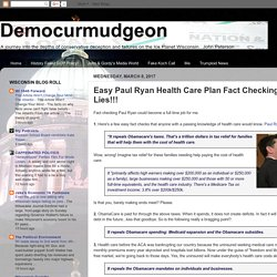 Fact Check Ryan Health Care Plan