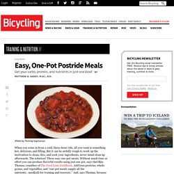 Easy, One-Pot Postride Meals