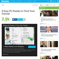 8 Easy PC Pranks to Trick Your Friends