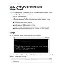Easy JVM CPU profiling with WarmRoast