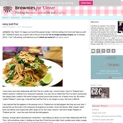 Easy Pad Thai Recipe | Brownies for Dinner
