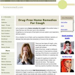 Easy Home Remedies for Cough Treatment