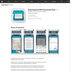 Easy Scanner PDF Document Scan on the AppStore