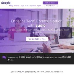 Droplr dragDropShare