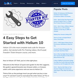 4 Easy Steps to Get Started with Helium 10