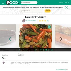 Easy Stir Fry Sauce Recipe