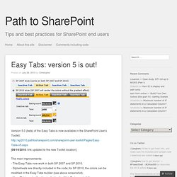 Easy Tabs: version 5 is out!