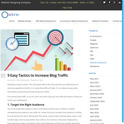 9 Easy Tactics to Increase Blog Traffic