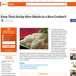 Easy Thai Sticky Rice (Made in a Rice Cooker!)