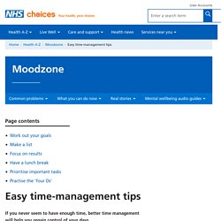 Easy time-management tips