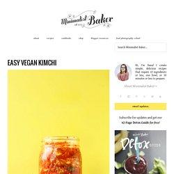 Easy Vegan Kimchi