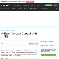 Easy Version Control with Git - Nettuts+