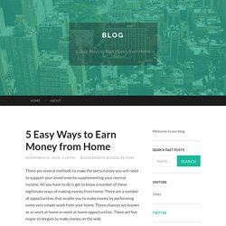 5 Easy Ways to Earn Money from Home