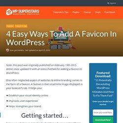 3 Ways To Add A Favicon In WordPress