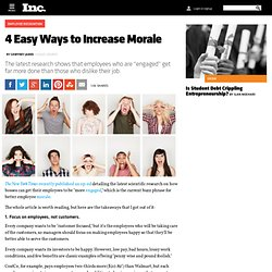 4 Easy Ways to Increase Morale