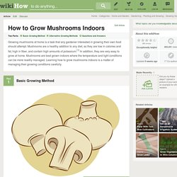 2 Easy Ways to Grow Mushrooms Indoors