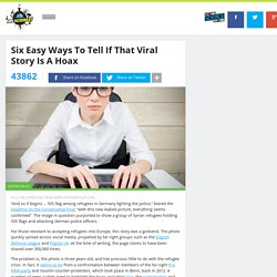 Six Easy Ways To Tell If That Viral Story Is A Hoax