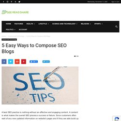 5 Easy Ways to Compose SEO Blogs