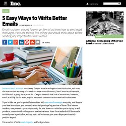5 Easy Ways to Write Better Emails